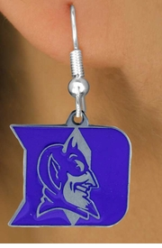 <Br>                LEAD & NICKEL FREE!!<Br>             OFFICIALLY LICENSED!!!<bR>W15640E - DUKE UNIVERSITY BLUE<Br>            DEVILS EARRINGS FROM<bR>                     $5.06 TO $11.25