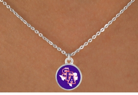 <Br>             LEAD & NICKEL FREE!!<Br>           OFFICIALLY LICENSED!!<bR>   W15756N - STEPHEN F. AUSTIN<Br>STATE UNIVERSITY LUMBERJACKS<Br> NECKLACE FROM $3.94 TO $8.75