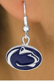"<Br>              LEAD & NICKEL FREE!!<Br>           OFFICIALLY LICENSED!!!<bR>W16050E - PENNSYLVANIA STATE<Br>    UNIVERSITY ""NITTANY LIONS""<Br>  EARRINGS FROM $3.94 TO $8.75"