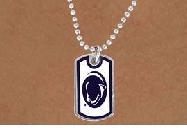 "<Br>                 LEAD & NICKEL FREE!!<Br>              OFFICIALLY LICENSED!!!<bR>   W16053N - PENNSYLVANIA STATE<Br>  UNIVERSITY ""NITTANY LIONS"" DOG<Br>TAG NECKLACE FROM $3.94 TO $8.75"