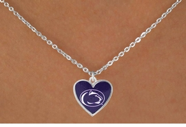 "<Br>               LEAD & NICKEL FREE!!<Br>             OFFICIALLY LICENSED!!<bR> W16082N - PENNSYLVANIA STATE<Br>      UNIVERSITY ""NITTANY LIONS""<Br>   NECKLACE FROM $3.94 TO $8.75"