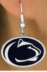 "<Br>              LEAD & NICKEL FREE!!<Br>           OFFICIALLY LICENSED!!!<bR>W16099E - PENNSYLVANIA STATE<Br>     UNIVERSITY ""NITTANY LIONS""<Br> EARRINGS FROM $5.06 TO $11.25"