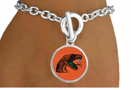 """<Br>                  LEAD & NICKEL FREE!!<Br>                OFFICIALLY LICENSED!!<bR> W19524B - FLORIDA A&M UNIVERSITY <Br>""""RATTLERS """"BRACELET FROM $3.94 TO $8.75"""