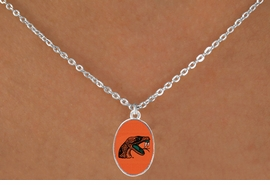 """<Br>                  LEAD & NICKEL FREE!!<Br>                OFFICIALLY LICENSED!!<bR> W19529N - FLORIDA A&M """"RATTLERS""""<Br>    LOGO NECKLACE FROM $3.94 TO $8.75"""