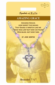 "<Br>                LEAD & NICKEL FREE!!<Br>    RELIGIOUS SYMBOLS OF FAITH!!<Br>       W15373B - ""AMAZING GRACE""<Br>CROSS CHARM BRACELET WITH GIFT<Br>CARD & ENVELOPE AS LOW AS $6.97"