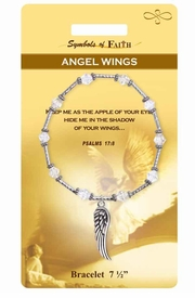 "<Br>                LEAD & NICKEL FREE!!<Br>    RELIGIOUS SYMBOLS OF FAITH!!<Br>         W15375B - ""ANGEL WINGS""<Br> WING CHARM BRACELET WITH GIFT<Br>CARD & ENVELOPE AS LOW AS $8.47"