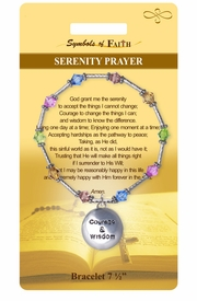 "<Br>               LEAD & NICKEL FREE!!<Br>   RELIGIOUS SYMBOLS OF FAITH!!<Br>    W15383B - ""SERENITY PRAYER""<Br>BEADED BRACELET WITH GIFT CARD<Br>      & ENVELOPE AS LOW AS $8.47"