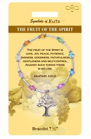 "<Br>                LEAD & NICKEL FREE!!<Br>    RELIGIOUS SYMBOLS OF FAITH!!<Br>  W15386B - ""FRUIT OF THE SPIRIT""<Br>  TREE CHARM BRACELET WITH GIFT<Br>CARD & ENVELOPE AS LOW AS $9.47"