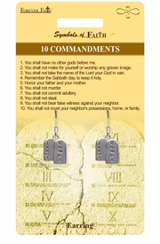 "<Br>              LEAD & NICKEL FREE!!<Br>  RELIGIOUS SYMBOLS OF FAITH!!<Br>W15417E - ""10 COMMANDMENTS""<Br>TABLET EARRINGS WITH GIFT CARD<Br>     & ENVELOPE AS LOW AS $4.47"