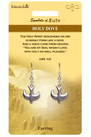 """<Br>             LEAD & NICKEL FREE!!<Br> RELIGIOUS SYMBOLS OF FAITH!!<Br>W15422E - """"HOLY DOVE"""" CHARM<Br>     EARRINGS WITH GIFT CARD &<Br>       ENVELOPE AS LOW AS $4.47"""