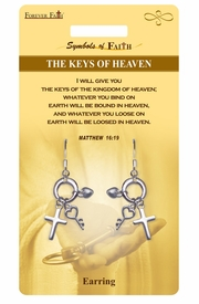 "<Br>           LEAD & NICKEL FREE!!<Br>RELIGIOUS SYMBOLS OF FAITH!!<Br> W15424E - ""KEYS OF HEAVEN""<Br> MULTI CHARM EARRINGS WITH<Br>         GIFT CARD & ENVELOPE<Br>                AS LOW AS $4.47"
