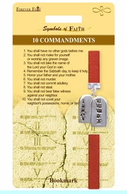 """<Br>                   LEAD & NICKEL FREE!!<Br>        RELIGIOUS SYMBOLS OF FAITH!!<Br>   W15519BM - """"10 COMMANDMENTS""""<Br>TABLET CHARM BOOKMARK WITH GIFT<Br>   CARD & ENVELOPE AS LOW AS $3.97"""