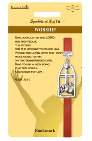 "<Br>                LEAD & NICKEL FREE!!<Br>    RELIGIOUS SYMBOLS OF FAITH!!<Br>W15529BM - ""WORSHIP"" WINDOW<Br>     BOOKMARK WITH GIFT CARD &<Br>         ENVELOPE AS LOW AS $3.97"