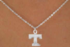 <Br>             LEAD & NICKEL FREE!!<Br>       STERLING SILVER PLATED!!<bR>W12817N - LICENSED UNIVERSITY<Br>  OF TENNESSEE LOGO NECKLACE<Br>                  AS LOW AS $3.65