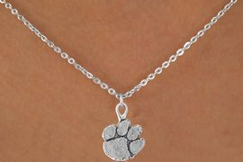 <Br>           LEAD & NICKEL FREE!!<Br>     STERLING SILVER PLATED!!<bR>W12852N - LICENSED CLEMSON<Br>   UNIVERSITY TIGERS MASCOT<Br>    NECKLACE AS LOW AS $3.65