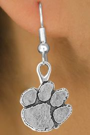 <Br>           LEAD & NICKEL FREE!!<Br>     STERLING SILVER PLATED!!<bR>W12853E - LICENSED CLEMSON<Br>   UNIVERSITY TIGERS MASCOT<BR>    EARRINGS AS LOW AS $3.65