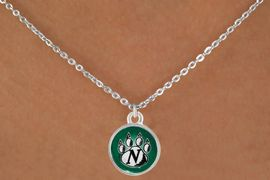 <Br>                LEAD & NICKEL FREE!!<Br>           STERLING SILVER PLATED!!<bR>  W12928N - LICENSED NORTHWEST<Br>MISSOURI STATE UNIVERSITY CIRCLE<Br>              LOGO & PAW NECKLACE<bR>                      AS LOW AS $3.65