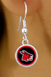"""<Br>                   LEAD & NICKEL FREE!!<Br>             STERLING SILVER PLATED!!<bR>  W13444E - LICENSED UNIVERSITY OF<br>CENTRAL MISSOURI """"MULES"""" MASCOT<Br>            EARRINGS AS LOW AS $3.65"""