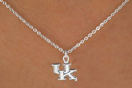 <Br>                LEAD & NICKEL FREE!!<Br>          STERLING SILVER PLATED!!<bR>   W13682N - LICENSED UNIVERSITY<Br>            OF KENTUCKY WILDCATS<Br>   LOGO NECKLACE AS LOW AS $3.65