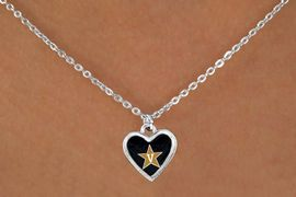 """<Br>                LEAD & NICKEL FREE!!<Br>          STERLING SILVER PLATED!!<bR>  W13703N - LICENSED VANDERBILT<Br>UNIVERSITY """"COMMODORES"""" LOGO<Br>         NECKLACE AS LOW AS $3.65"""