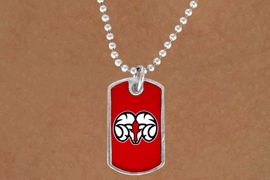 "<Br>                    LEAD & NICKEL FREE!!<Br>               STERLING SILVER PLATED!!<bR>W13782N - LICENSED WINSTON-SALEM<Br>   STATE UNIVERSITY ""RAMS""  DOG TAG<BR>   MASCOT NECKLACE AS LOW AS $3.50"