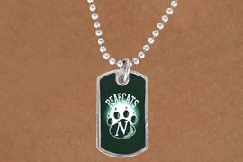 """<Br>             LEAD & NICKEL FREE!!<Br>       STERLING SILVER PLATED!!<bR>W13785N - LICENSED NORTHWEST<Br>     MISSOURI STATE UNIVERSITY<Br>      """"BEARCATS"""" DOG TAG LOGO<BR>       NECKLACE AS LOW AS $3.50"""