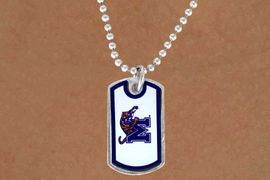 """<Br>               LEAD & NICKEL FREE!!<Br>         STERLING SILVER PLATED!!<bR>  W13865N - LICENSED UNIVERSITY<Br>   OF MEMPHIS """"TIGERS"""" DOG TAG<BR>  LOGO NECKLACE AS LOW AS $3.50"""