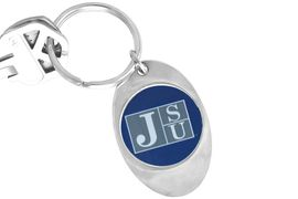 """<Br>             LEAD & NICKEL FREE!!<Br>        STERLING SILVER PLATED!!<bR>  W14009KC - LICENSED JACKSON<br>STATE UNIVERSITY """"TIGERS"""" LOGO<Br>      KEY CHAIN AS LOW AS $1.99"""