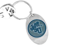 """<Br>             LEAD & NICKEL FREE!!<Br>        STERLING SILVER PLATED!!<bR>  W14012KC - LICENSED JACKSON<br>STATE UNIVERSITY """"TIGERS"""" LOGO<Br>      KEY CHAIN AS LOW AS $1.99"""