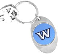 """<Br>               LEAD & NICKEL FREE!!<Br>         STERLING SILVER PLATED!!<bR>W14013KC - LICENSED WASHBURN<Br>    UNIVERSITY """"ICHABODS"""" LOGO<Br>        KEY CHAIN AS LOW AS $1.99"""