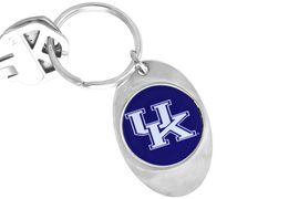 """<Br>             LEAD & NICKEL FREE!!<Br>        STERLING SILVER PLATED!!<bR>W14015KC - LICENSED UNIVERSITY<Br>  OF KENTUCKY """"WILDCATS"""" LOGO<Br>       KEY CHAIN AS LOW AS $1.99"""