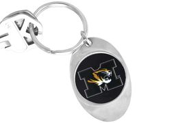 """<Br>              LEAD & NICKEL FREE!!<Br>        STERLING SILVER PLATED!!<bR>W14017KC - LICENSED UNIVERSITY<Br>    OF MISSOURI """"MIZZOU TIGERS""""<Br> LOGO KEY CHAIN AS LOW AS $1.99"""