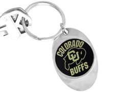 """<Br>              LEAD & NICKEL FREE!!<Br>         STERLING SILVER PLATED!!<bR>W14045KC - LICENSED UNIVERSITY<Br>OF COLORADO """"BUFFALOES"""" LOGO<Br>       KEY CHAIN AS LOW AS $1.99"""