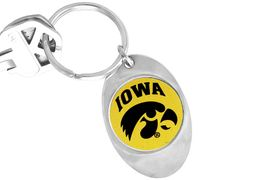 """<Br>              LEAD & NICKEL FREE!!<Br>        STERLING SILVER PLATED!!<bR>W14191KC - LICENSED UNIVERSITY<Br>      OF IOWA """"HAWKEYES"""" LOGO<Br>       KEY CHAIN AS LOW AS $1.99"""