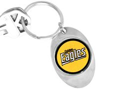"""<Br>                LEAD & NICKEL FREE!!<Br>           STERLING SILVER PLATED!!<bR> W14193KC - LICENSED UNIVERSITY<Br>          OF SOUTHERN MISSISSIPPI<Br>""""GOLDEN EAGLES"""" LOGO KEY CHAIN<bR>                     AS LOW AS $1.99"""