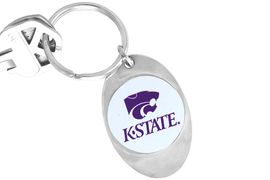 """<Br>              LEAD & NICKEL FREE!!<Br>        STERLING SILVER PLATED!!<bR>   W14195KC - LICENSED KANSAS<Br>   STATE UNIVERSITY """"WILDCATS""""<Br>LOGO KEY CHAIN AS LOW AS $1.99"""