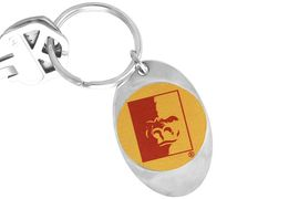 """<Br>              LEAD & NICKEL FREE!!<Br>        STERLING SILVER PLATED!!<bR>W14200KC - LICENSED PITTSBURG<Br>    STATE UNIVERSITY """"GORILLAS""""<Br> LOGO KEY CHAIN AS LOW AS $1.99"""