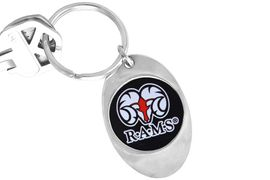 """<Br>                    LEAD & NICKEL FREE!!<Br>               STERLING SILVER PLATED!!<bR>W14309KC - LICENSED WINSTON-SALEM<Br>         STATE UNIVERSITY """"RAMS"""" LOGO<Br>              KEY CHAIN AS LOW AS $1.99"""