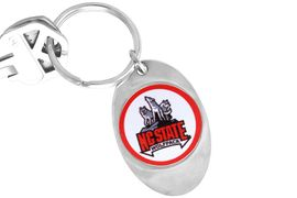 """<Br>                    LEAD & NICKEL FREE!!<Br>               STERLING SILVER PLATED!!<bR>W14335KC - LICENSED NORTH CAROLINA<Br>   STATE UNIVERSITY """"WOLFPACK"""" LOGO<Br>              KEY CHAIN AS LOW AS $1.99"""