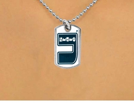 <Br>               LEAD & NICKEL FREE!!<Br>         STERLING SILVER PLATED!!<bR> W15225N - LICENSED UTAH STATE<Br>UNIVERSITY AGGIES DOG TAG LOGO<Br>        NECKLACE  FROM $3.94 TO $8.75