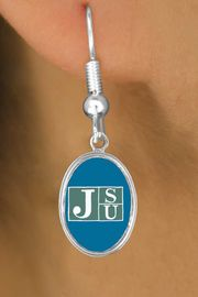 """<Br>              LEAD & NICKEL FREE!!<Br>        STERLING SILVER PLATED!!<bR>    W15295E - LICENSED JACKSON<Br>STATE UNIVERSITY """"TIGERS"""" LOGO<Br>   EARRINGS FROM $3.94 TO $8.75"""