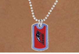 <Br>                  LEAD & NICKEL FREE!!<Br>            STERLING SILVER PLATED!!<bR>     W15631N - LICENSED UNIVERSITY<Br>      OF NEW MEXICO LOBOS DOG TAG<Br>LOGO NECKLACE FROM $3.94 TO $8.75