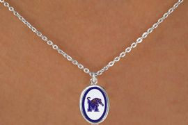 "<Br>              LEAD & NICKEL FREE!!<Br>         STERLING SILVER PLATED!!<bR>W16662N - LICENSED UNIVERSITY<Br>      OF MEMPHIS ""TIGERS"" LOGO<Br>  NECKLACE FROM $3.94 TO $8.75"