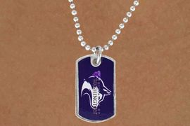 "<Br>             LEAD & NICKEL FREE!!<Br>       STERLING SILVER PLATED!!<bR>W16667N - LICENSED UNIVERSITY<Br>     OF WASHINGTON ""HUSKIES""<br>    DOG TAG MASCOT NECKLACE<BR>             FROM $3.94 TO $8.75"