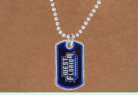 """<Br>              LEAD & NICKEL FREE!!<Br>        STERLING SILVER PLATED!!<bR>W16907N - LICENSED UNIVERSITY<Br>  OF WEST FLORIDA """"ARGONAUTS""""<Br>        DOG TAG NECKLACE FROM<Br>                     $3.94 TO $8.75"""