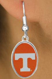 <Br>             LEAD & NICKEL FREE!!<Br>       STERLING SILVER PLATED!!<br>W16912E - LICENSED UNIVERSITY<Br>  OF TENNESSEE LOGO EARRINGS<Br>             FROM $3.94 TO $8.75