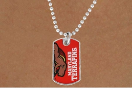 "<Br>              LEAD & NICKEL FREE!!<Br>        STERLING SILVER PLATED!!<bR>W16952N - LICENSED UNIVERSITY<Br>      OF MARYLAND ""TERRAPINS""<Br> DOG TAG LOGO NECKLACE FROM<Br>                     $3.94 TO $8.75"
