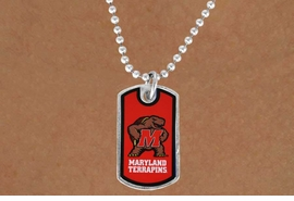 "<Br>              LEAD & NICKEL FREE!!<Br>        STERLING SILVER PLATED!!<bR>W16954N - LICENSED UNIVERSITY<Br>      OF MARYLAND ""TERRAPINS""<Br> DOG TAG LOGO NECKLACE FROM<Br>                     $3.94 TO $8.75"