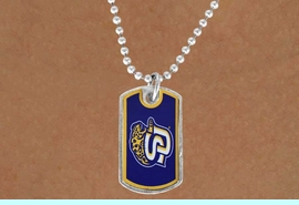"""<Br>             LEAD & NICKEL FREE!!<Br>      STERLING SILVER PLATED!!<bR>W16977N - LICENSED SOUTHERN<Br>UNIVERSITY """"JAGUARS"""" DOG TAG<Br> NECKLACE FROM $3.94 TO $8.75"""