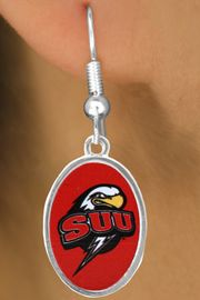 """<Br>                 LEAD & NICKEL FREE!!<Br>           STERLING SILVER PLATED!!<bR>    W16984E - LICENSED SOUTHERN<BR>UTAH UNIVERSITY """"THUNDERBIRDS""""<Br>     EARRINGS FROM $3.94 TO $8.75"""